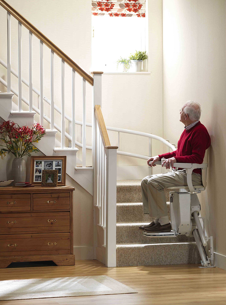 Stannah Siena Curved Stairlift